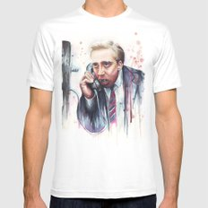 Nicolas Cage Mens Fitted Tee White SMALL