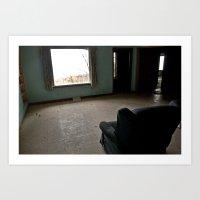 Abandoned Teal Nunnery C… Art Print