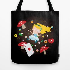 Alice Falling Down the Rabbit Hole Tote Bag