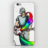 Guitarist (Colour My Wor… iPhone & iPod Skin