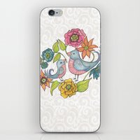 Blue Bird Garden iPhone & iPod Skin