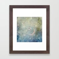be the light Framed Art Print