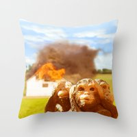 Monkeys Make Bad Pets. Throw Pillow