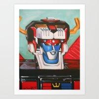 Voltron II Art Print