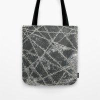 Sparkle Net Black Tote Bag