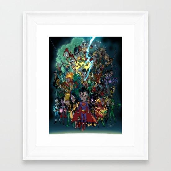 Lil' Super Friends Framed Art Print