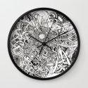 Inwards Wall Clock