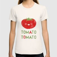 Tomato-Tomato Womens Fitted Tee Natural SMALL