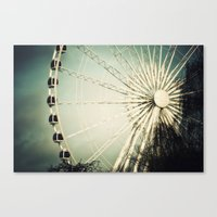 The Wheel Goes Round and Round Canvas Print