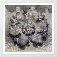 Carved Flower Art Print