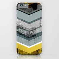 Grey & Yellow Chevron iPhone 6 Slim Case