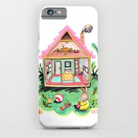 iPhone & iPod Case featuring Rebecca Rabbit, Her House, and Her Belongings by Rebecca Rogers