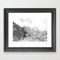 Long's Peak Framed Art Print