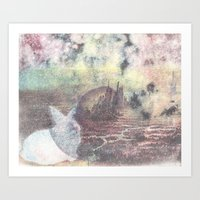 A Rabbit And A Dying Cit… Art Print