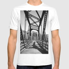 Bridge White SMALL Mens Fitted Tee
