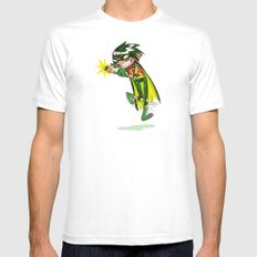 Robin, the Boy Wonder Sketch Mens Fitted Tee White SMALL