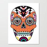 Deco Skull Canvas Print
