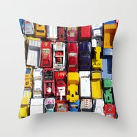Toy Cars Throw Pillow