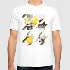 Maze Hound SMALL White Mens Fitted Tee