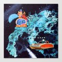 Lucy's in space now Canvas Print