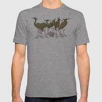 Bird Forest Mens Fitted Tee Athletic Grey SMALL
