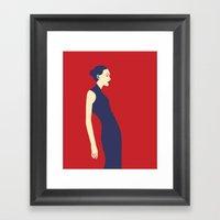 Celandine Red Framed Art Print