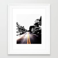 pavement Framed Art Print