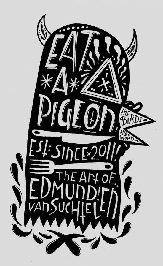 Eat a Pigeon: American Made X Black Magic Art Print