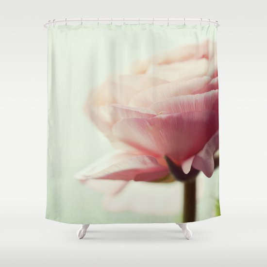 pink blush shower curtain by lawson images society6