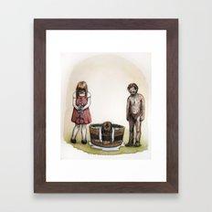 Foxgloves, water, and ash. Framed Art Print