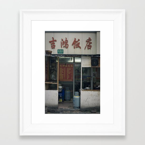 Food stall Framed Art Print