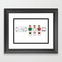 Italian Football - Caten… Framed Art Print