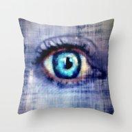 Throw Pillow featuring Behind The Veil by Karen Grossman