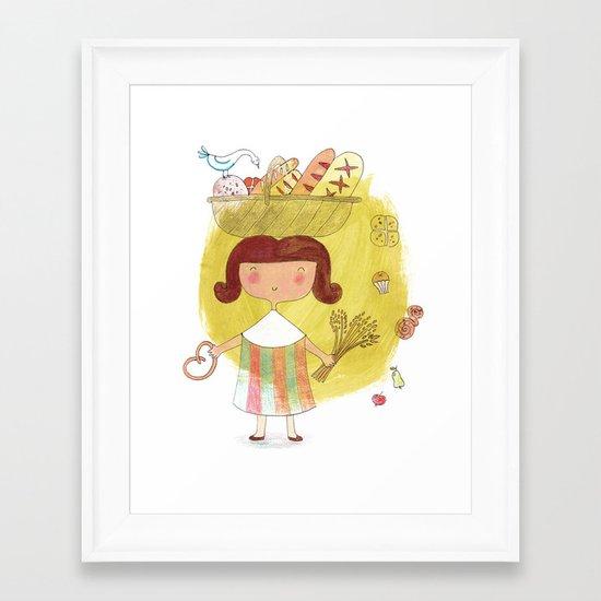 Baked Gold Framed Art Print