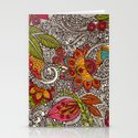 Random Flowers Stationery Cards