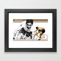 cycling legend Eddy 'The Cannibal' Merckx Framed Art Print