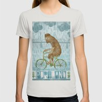 Dirty Wet Bigfoot Hipster Womens Fitted Tee Silver SMALL