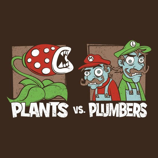 Plants Vs Plumbers  Art Print