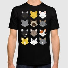 Cats, Cats, Cats SMALL Black Mens Fitted Tee