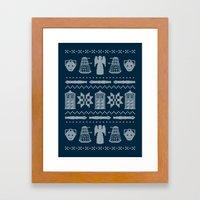 Who's Sweater Framed Art Print