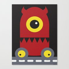 DEMON ON WHEELS Canvas Print
