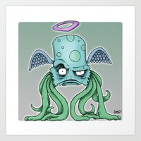 Space Alien Sci Fi Art B… Art Print