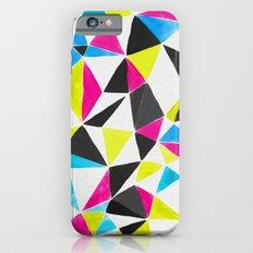 watercolor geometry CMYK iPhone 6 Slim Case