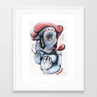 Misty Puff Framed Art Print