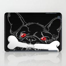 BAD-BLACK-BULLDOG-BONE iPad Case