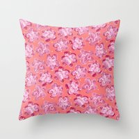 Wallflower - Rosette Throw Pillow