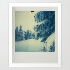 Mt Hood Snow - Polaroid Art Print