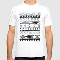 Rivers & Robots Pattern Mens Fitted Tee White SMALL