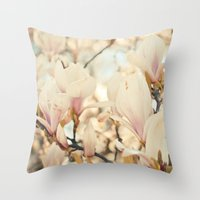 Magnolia And Cream Throw Pillow