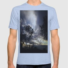Peaceful and powerful sunset Mens Fitted Tee Athletic Blue SMALL